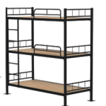 Triple layer bunk bed with ply