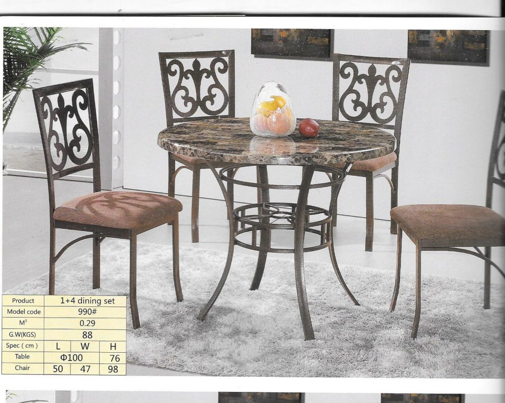 Round Dining Set DT 2002 2004 Metal Sets Cane Casca Glasgow 5